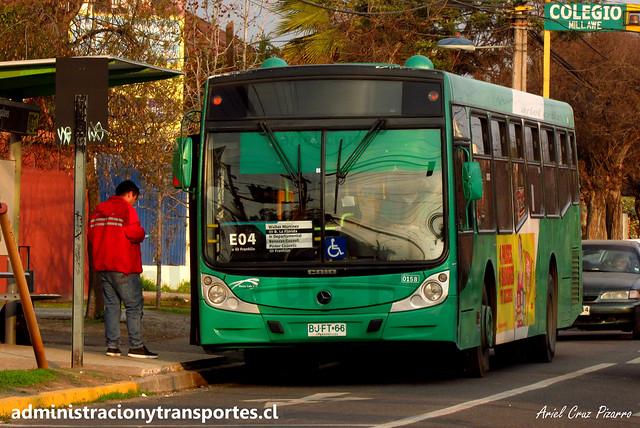 Transantiago E04 | Buses Vule | Caio Mondego H - Mercedes Benz / BJFT66