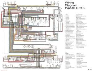 Porsche 911 wiring diagram  SL33   JPG version of file