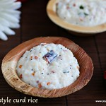 Temple style curd rice