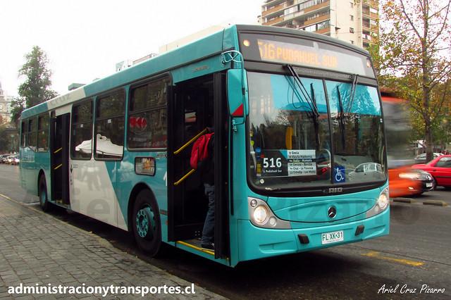 Transantiago   Metbus - 516   Caio Mondego H 13.2 - Mercedes Benz / FLXK31 (Biportal - 4 Puertas)