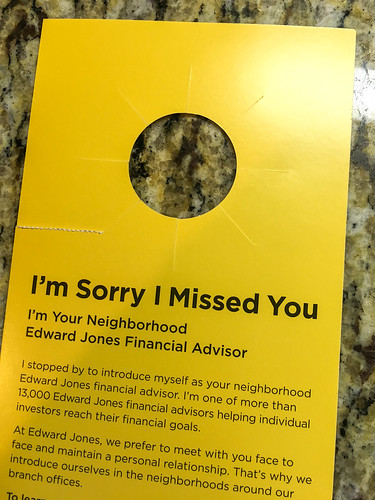 Edward Jones Door Hanger