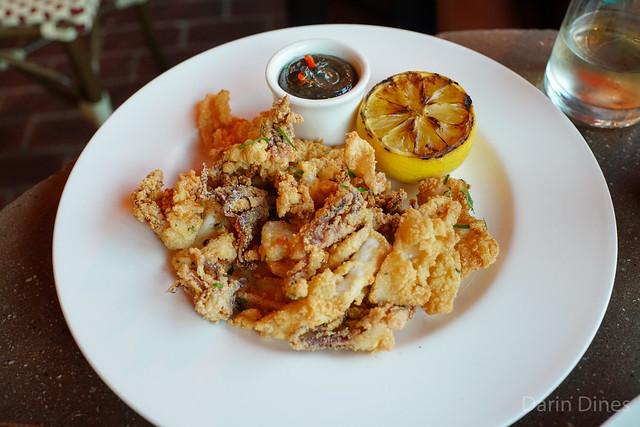 Calamari Fritti Monterey calamari crisped with Arborio rice flour and aioli nero