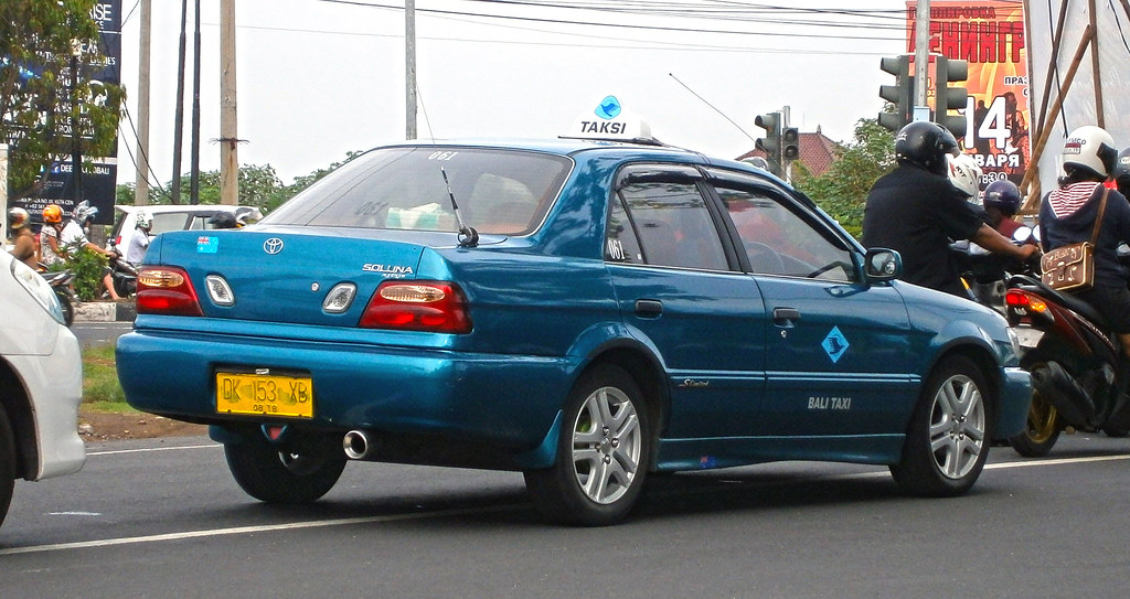 20012003 Toyota Soluna Taxi Photographed In Kuta Bali