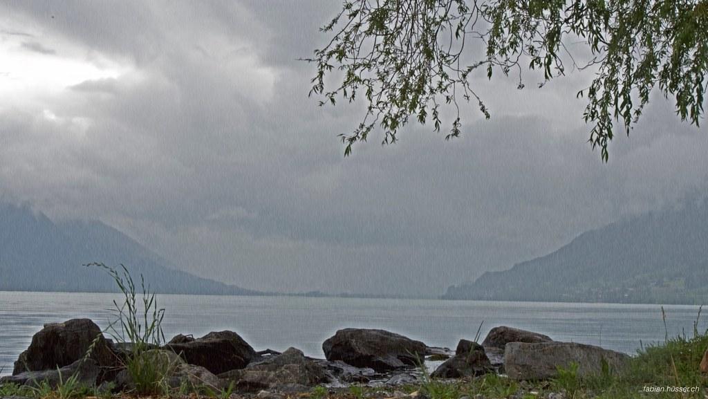 Brienz bei Regen