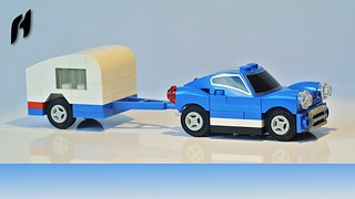 Car with Caravan (MOC)
