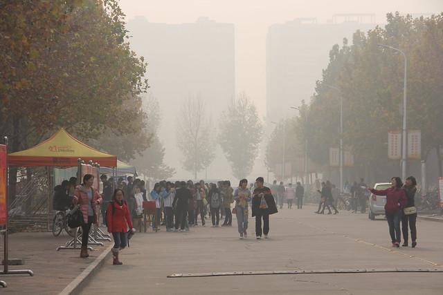 Anyang, China, severe air pollution