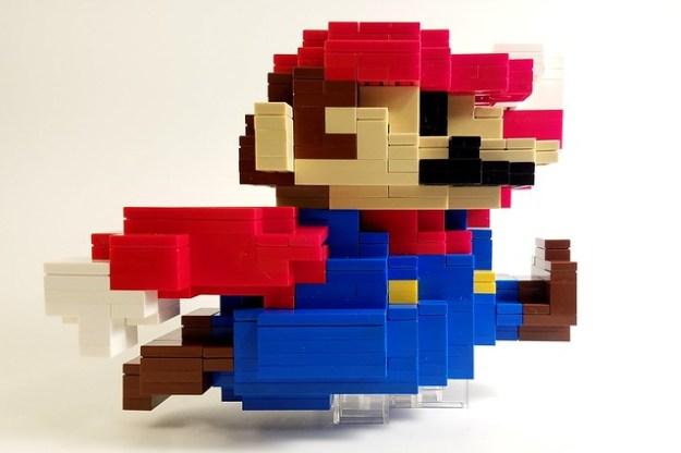 Super Mario looks super with bricks