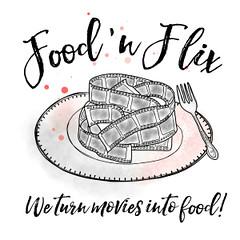 Food 'n Flix Club Logo