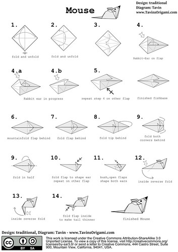 origami mouse diagram origami tutorial lets make it rh origami tutor download Gift Box Origami Diagram origami mouse diagram