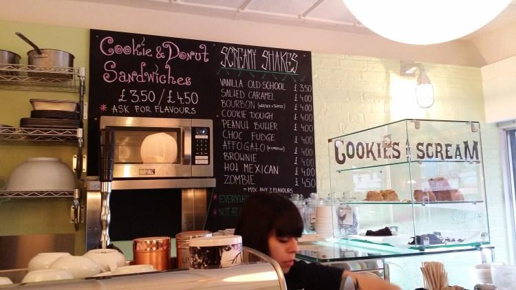 Cookies and Scream menu - Cookies and Scream Holloway