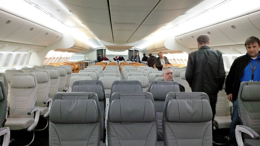 B 777X Mock Up Cabin Boeing 777X Mock Up Cabin At The