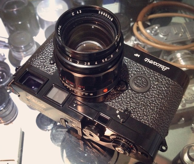 Leica Mp3 Set Black Paint Lhsa Special Edition With  Asph