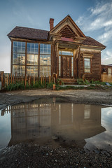 Cain House reflection, Bodie State Historic Park