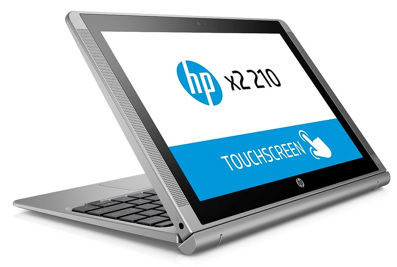 HP x2 210 G1 (10, Turbo Silver, touch) Catalog, Stand mode, Right facing 2