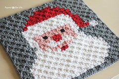 Free Crochet Santa C2C Square Pattern