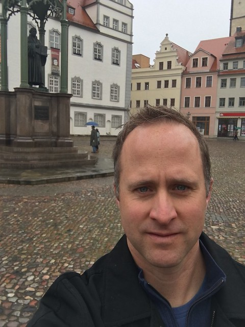 selfie with Martin in Lutherstadt Wittenberg