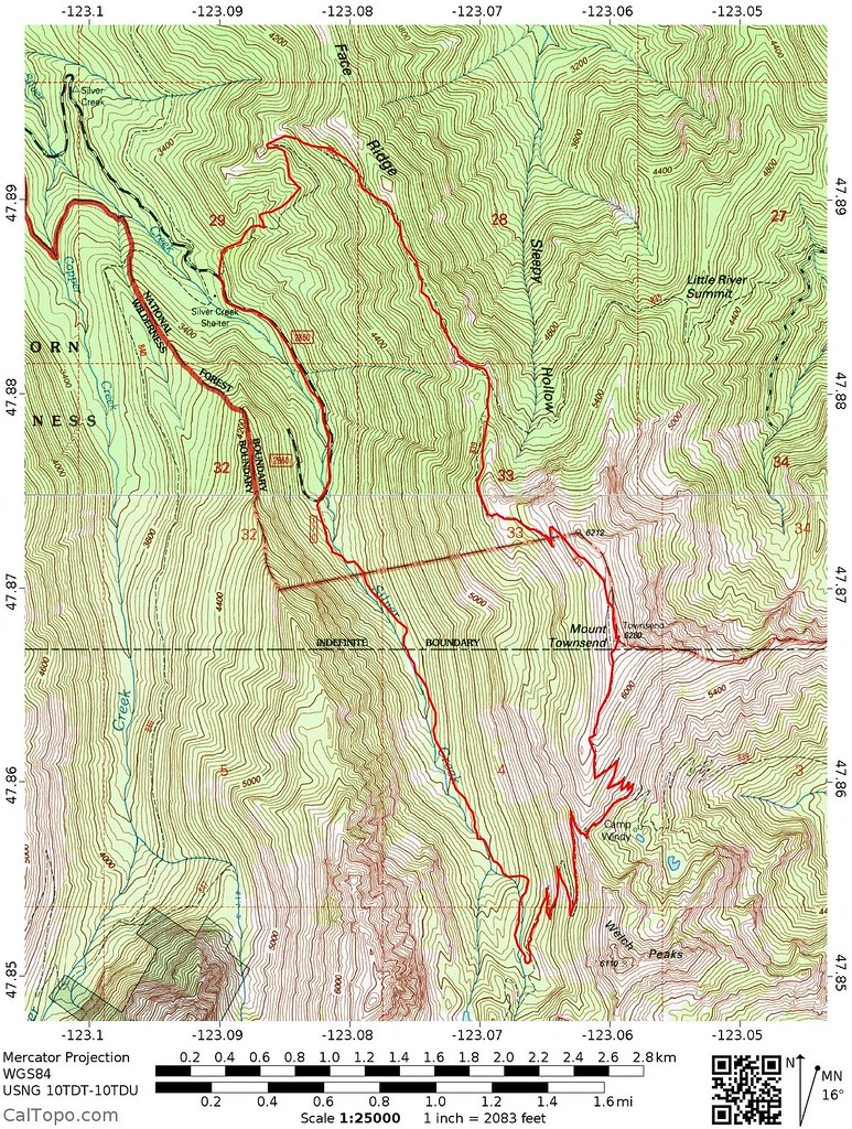mount townsend route