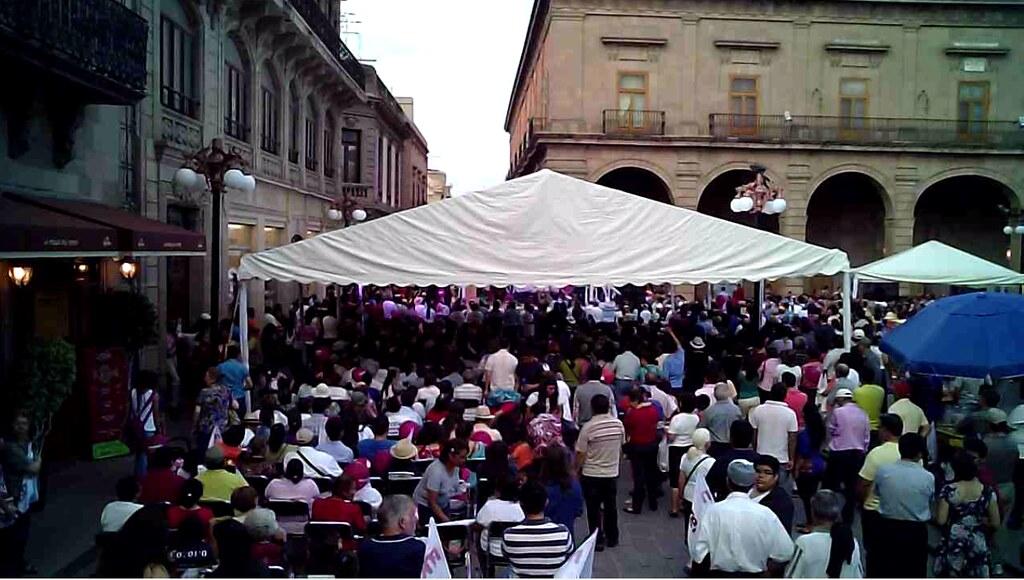 AMLO en Plaza de Armas San Luis Potosí