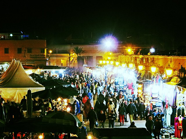 jemaa el fna, marrakech souk, solo female travel morocco, backpacking morocco, six weeks in morocco
