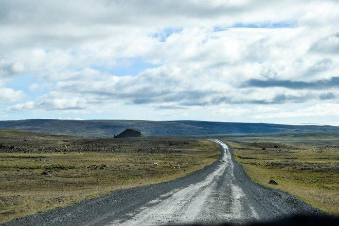 Carretera F35 o Ruta de Kjölur en las tierras altas de Islandia