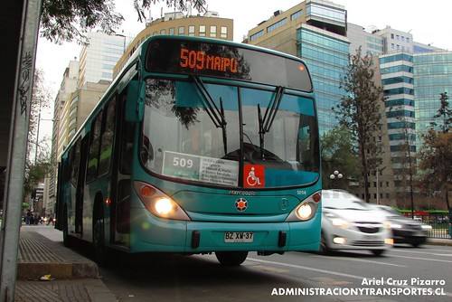 Transantiago - Metbus - Marcopolo Gran Viale / Mercedes Benz (BZXW37)
