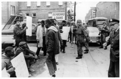 Guard Moves On Cambridge Rights Protest: 1964