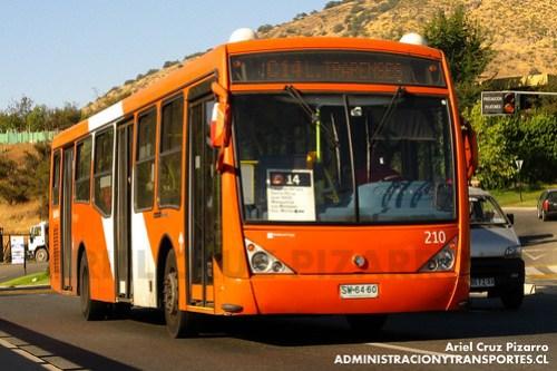 Transantiago - Redbus Urbano - Caio Millenium / Mercedes Benz (SW6460)