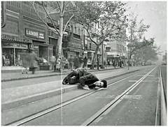 Idol is Idled by Streetcar Strike: 1945