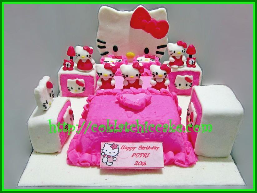 Cake Kamar Tidur Hello Kitty Putri Jual Kue Ulang Tahun