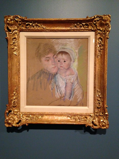 Baby Bill in his Cap and Shift, Held by His Nurse by Mary Cassatt