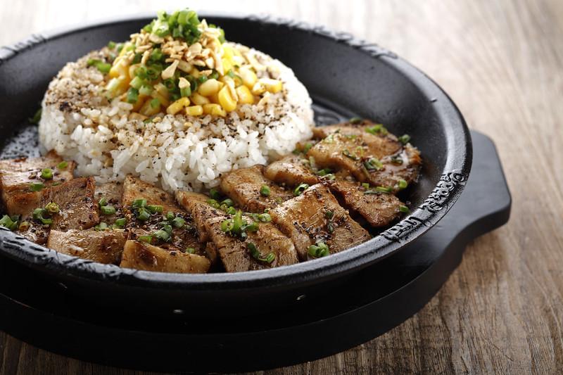 Pork Adobo Pepper Rice