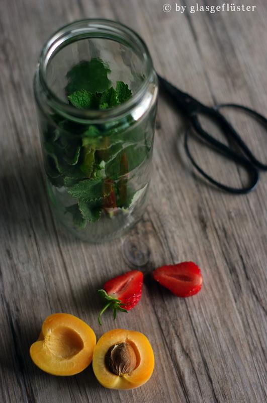 erdbeer aprikosen gelee mit minze by glasgeflüster 2 klein