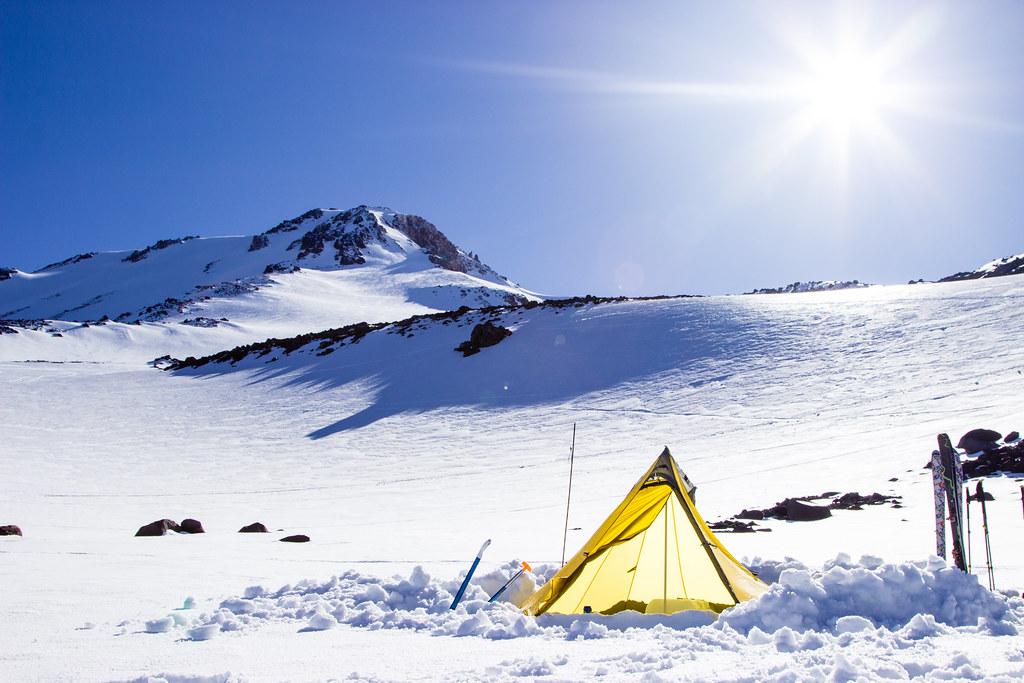 Base camp for Mt Shasta Ski