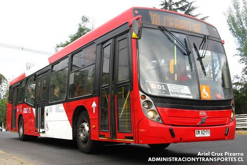 Transantiago - Redbus Urbano - Neobus Mega LE / Volvo (CRXZ71)