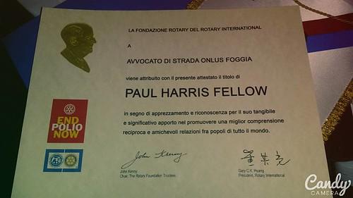 Premio Paul Harris Fellow
