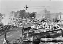 Scene of the Pine Street Fire in Cambridge: 1967