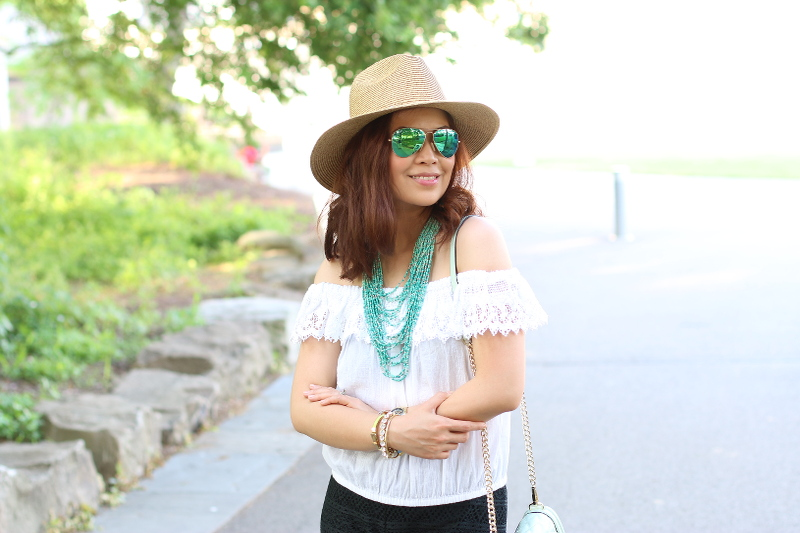 Summer-outfit-black-white-teal-8