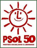 Fora Temer ecoa em Santarém no programa eleitoral do PSOL, foto Logo PSOL