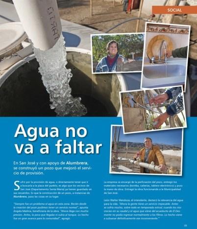 Más agua en San José