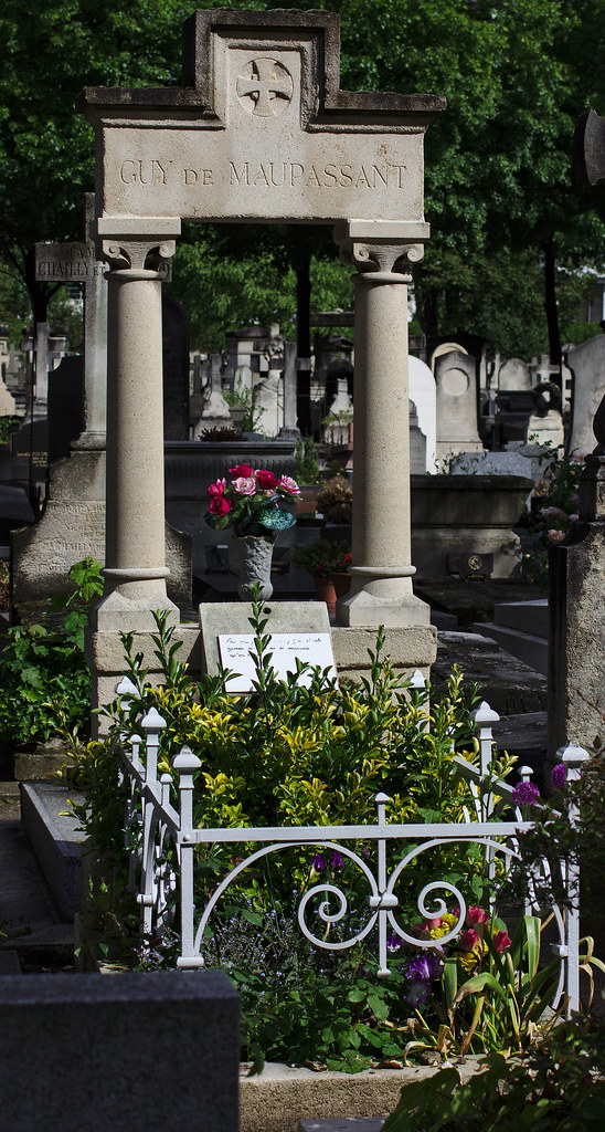 Grave Of Guy De Maupassant On The Cemetery Of