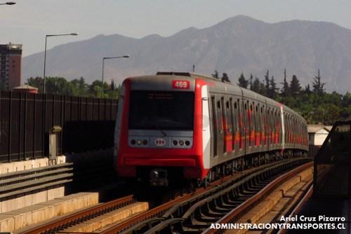 Metro de Santiago - Alstom AS2002 R4469-R4420 - Macul / Vicuña Mackenna (L4)