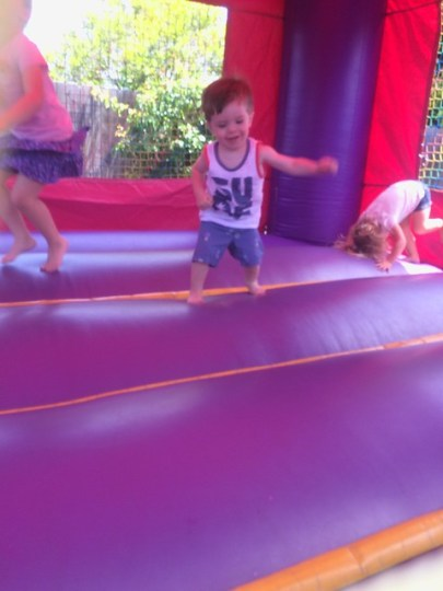 bounce house boy
