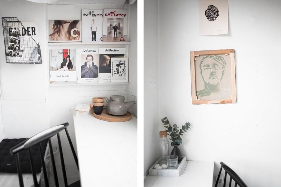 Såhär ser det ut åt höger och vänster av köksbordet som löper längs väggen  som en överdimensionerad fönsterbräda. Rekommenderar verkligen den här  lösningen ... 0b7bd8ec1549f
