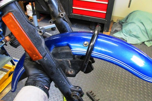 Sliding Fender and Fork Brace Out of Forks