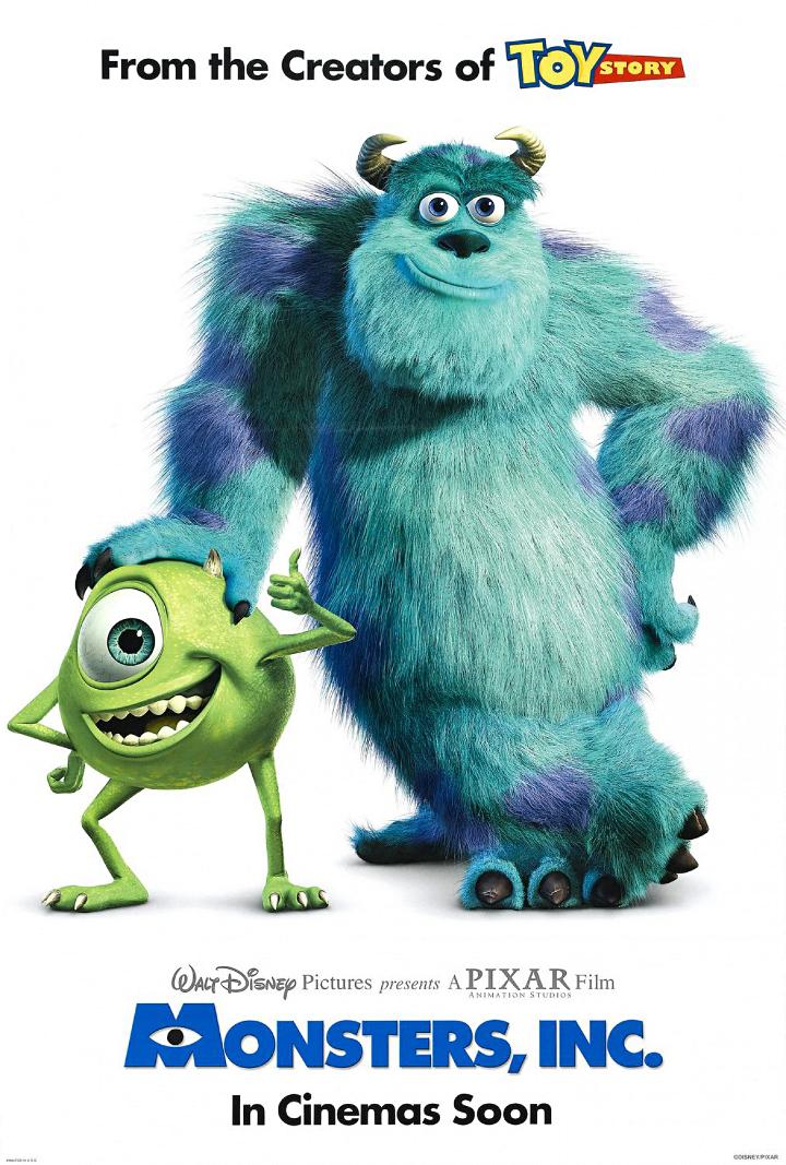 Monsterit Oy juliste | Pixar-perjantai: Monsterit Oy - Disnerd dreams