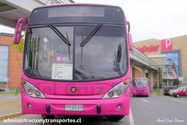 Transantiago H01 | Transaraucarias | Marcopolo Gran Viale - Mercedes Benz / YY2520