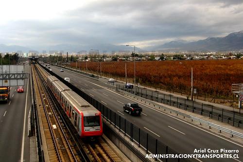 Metro de Santiago - Alstom AS2002 R4457 - Los Presidentes / Quilín (L4)