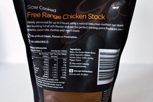Woolworths free range chicken stock nutrition information