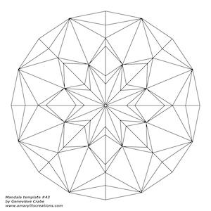 Mandala template 43