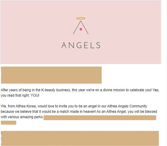Althea Angels Invitation